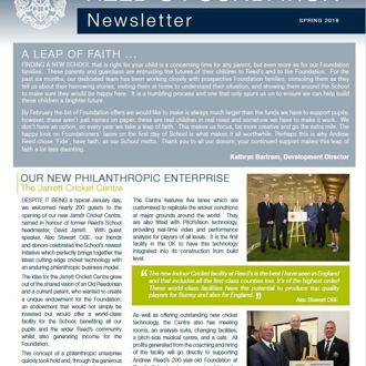 Foundation Newsletter Spring 2018